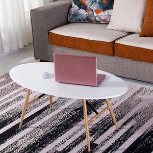 TABLE BASSE Dora Table Basse Scandinave Blanc Panneau de Fibre