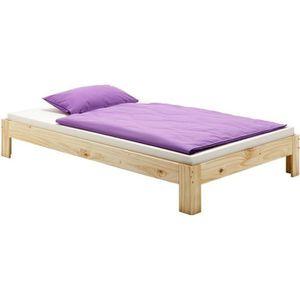 STRUCTURE DE LIT Lit futon THOMAS couchage double 140 x 190 cm 2 pl