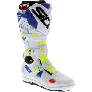 CHAUSSURE - BOTTE Bottes Motocross Sidi Crossfire 2 SRS Fluo-Blanc-J