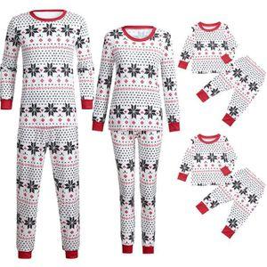 Ensemble de vêtements Garçons Filles Pyjama Bébé de Noël en famille Jamm