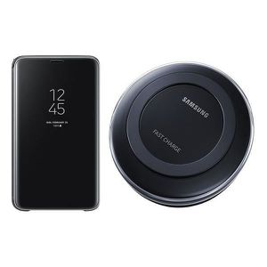 ACCESSOIRES SMARTPHONE Pack SAMSUNG Clear View S9 noir + Pad induction