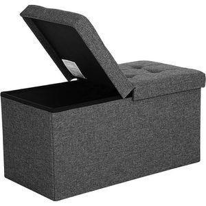 BANC Songmics® Coffre de rangement Couvercle pliable pa