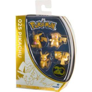 FIGURINE - PERSONNAGE Coffret 4 Figurines Pokemon Pikachu