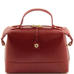 Rouge Sac Italien Bauletto Bowling Leather Cuir Tuscany bI7ygfvY6