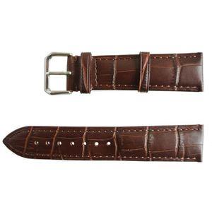 BRACELET DE MONTRE Bracelet Montre Cuir Marron Boucle Ardillon 16mm