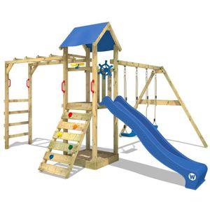 STATION DE JEUX Aire de jeux  WICKEY Smart Bridge Portique en bois