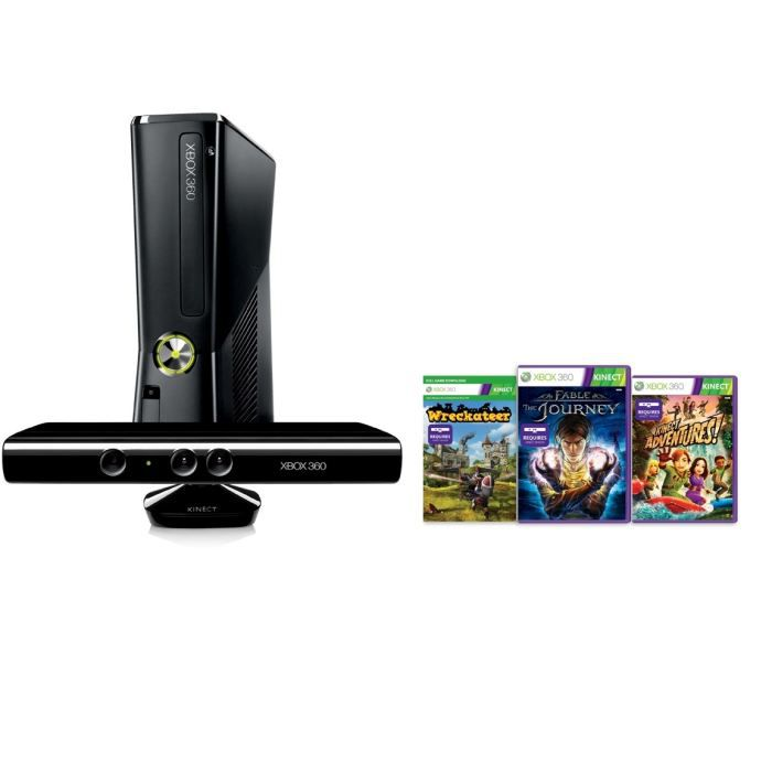 CONSOLE XBOX 360 XBOX 360 250 Go + Kinect + 3 Jeux
