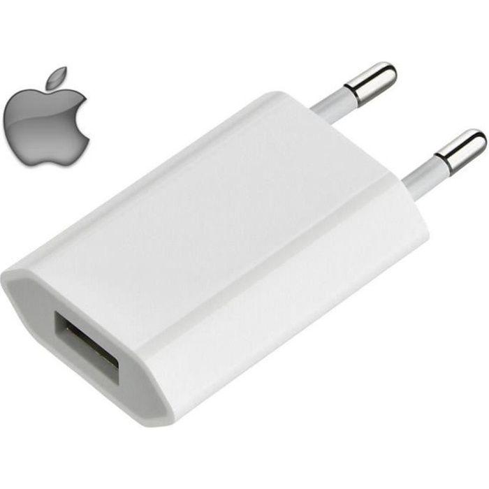 ORIGINAL APPLE CHARGEUR SECTEUR PRISE DE COURANT ADAPTATEUR 5W USB ALIMENTATION ORIGINE POUR IPHONE 5 6 7 8 11 X XR XS MAX IPAD IPOD