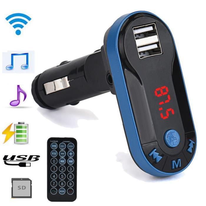 Bluetooth sans fil Transmetteur FM Lecteur MP3 Kit mains libres de voiture USB à distance TF SD XYQ61124121_2942