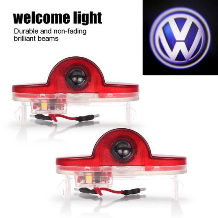 2pcs porte de voiture de LED Voyant bienvenue Logo Lampe de projecteur Pour Volkswagen VW Golf MK4 Touran Caddy Bora Beatles