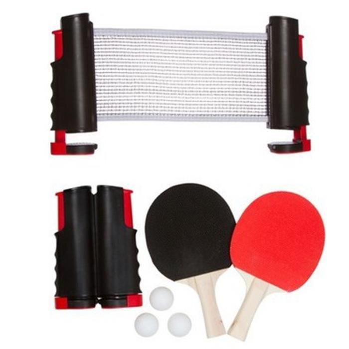 Ensemble de cadre de filet télescopique de tennis de table, portable,
