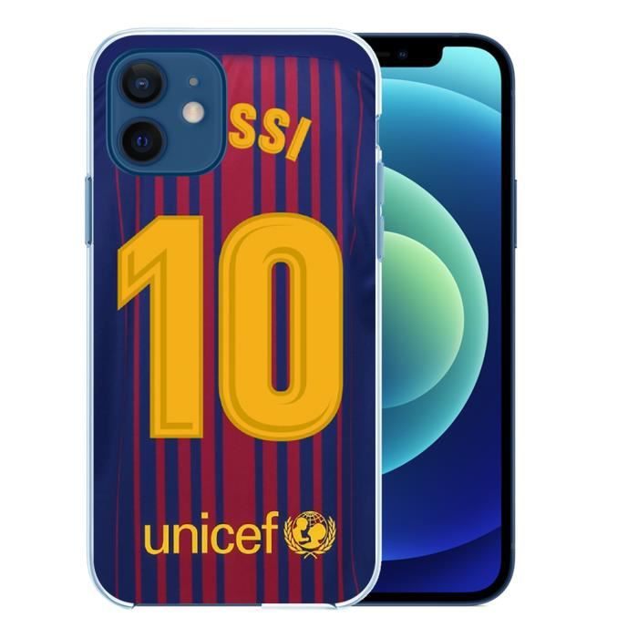 Coque pour iPhone 12 - Messi Barcelone 10. Accessoire telephone
