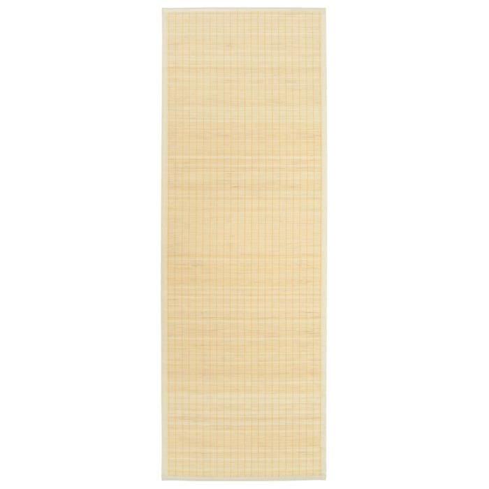 Tapis de yoga Bambou 60 x 180 cm Naturel -JID