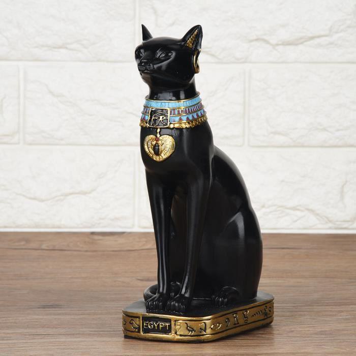 Chat égyptien résine Statue Figurine ménage chambre ornement artisanat cadeaux décoration de la maison S-SHC