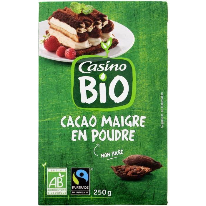 CASINO Poudre Cacao 100% Bio - 250G
