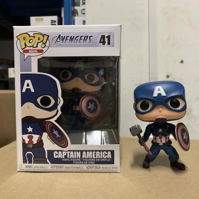 Funko pop Avengers 4 Iron Man Spiderman Captain America Black Panther Figure Toys-Revenge 4 Captain America # 41