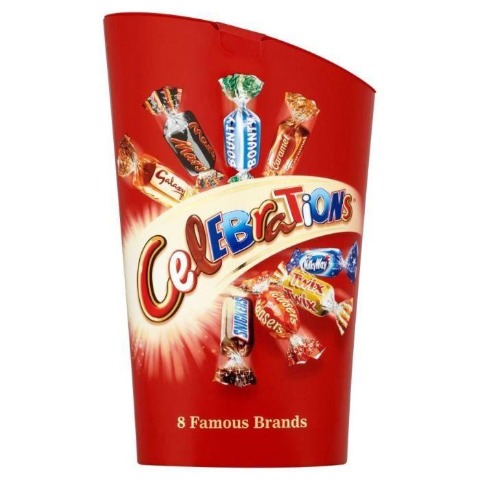 Celebrations - Boîte de barre de chocolats - lot de 2 boîtes de 240 g - barre chocolatee