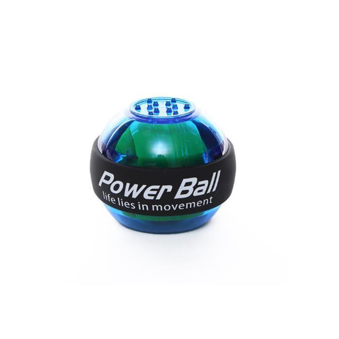 Entraîneur de poignet Powerball Arm Strengthener Essential Gyroscopic Wrist And Forearm Exerciser Ball Bleu