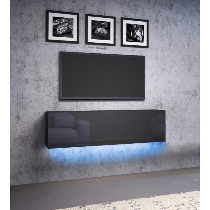 LIVOL L LED RTV, MEUBLE TV 140 CM NOIR