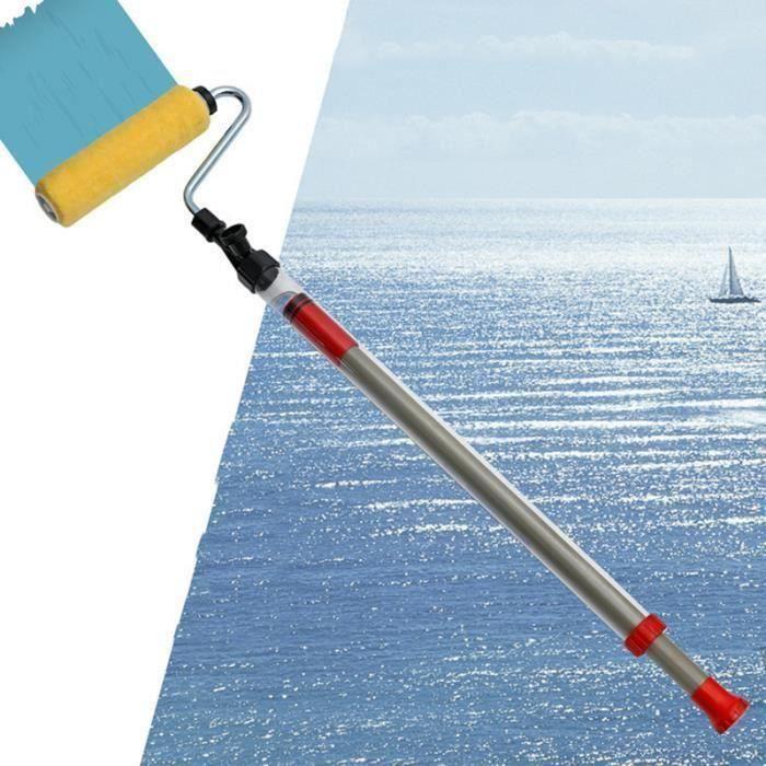 Rouleau peinture télescopique, Brosse à peindre avec système de pompe de Semi-Automatique, Pro-transform votre maison facilement