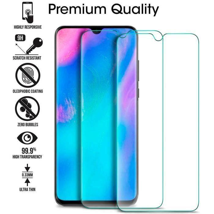 Film de protection pour écran en verre trempé anti-empreintes digitales pour téléphone portable, compatible avec Huawei P 30