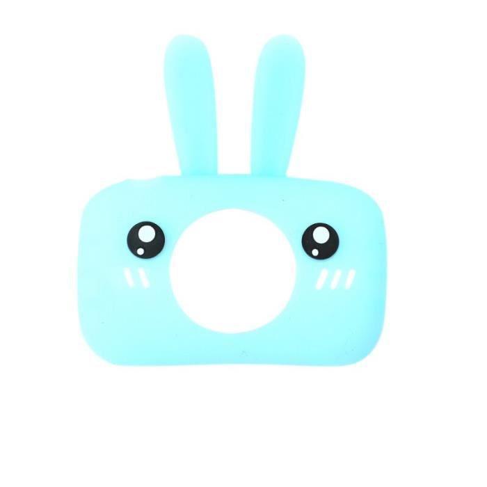 Appareil photo enfant,Bébé jouets Mini enfants enfants caméra Full HD 1080P numérique Portable vidéo Photo - Type blue rabbit case