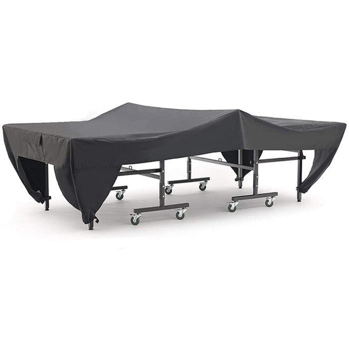 TABLE DE TENNIS DE TABLE SHDBHD Housse pour Table de Ping Pong, &Eacutetanche, R&eacutesistance au Vent, Anti-UV, R&eacutesista23