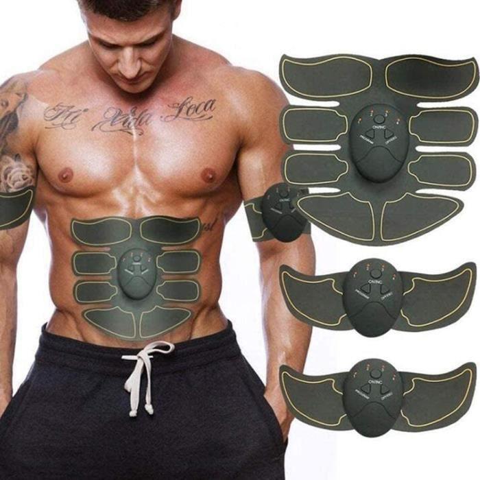 CEINTURE ABDOMINALE Formateur Abs Abdos Appareil Electrostimulation Stimulateur Musculaire Abdominaux Appareil Musculation Eacut1537