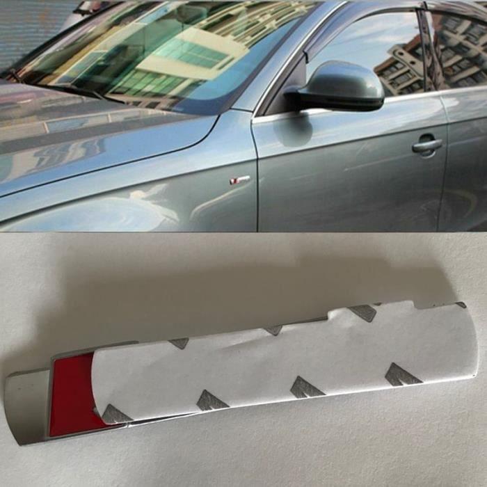 Badge de Voiture en Métal Chromé Mat Argent Noir, Autocollant, Accessoires Pour Audi S-Line A4 S4 RS4 A6 TT A