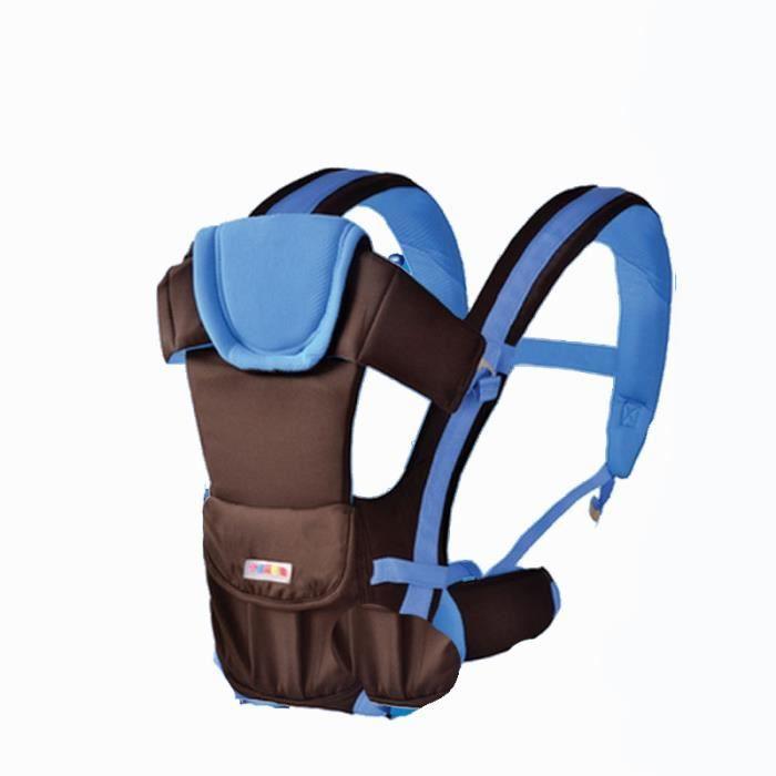 Porte bébé 0-48 mois mode Quatre saisons bleu2 Multifonction Sac de rangement pratique Confort et sécurité Économie du travail