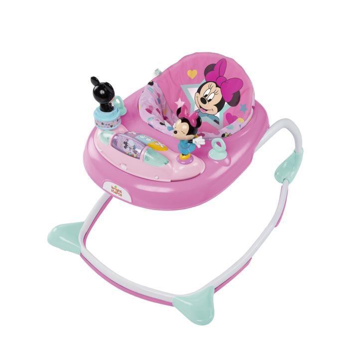 Trotteur Stars & Smiles Minnie - Lumières et mélodies - Avec frein - DISNEY BABY