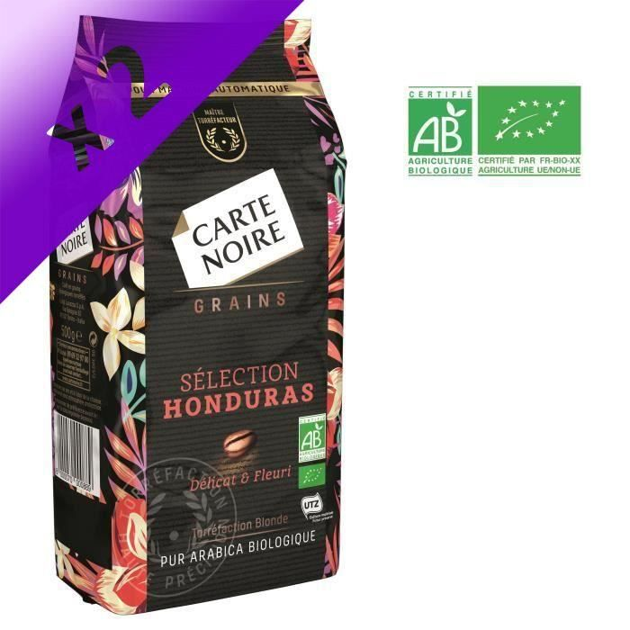 [LOT DE 2] Café en grains 500g Carte Noire