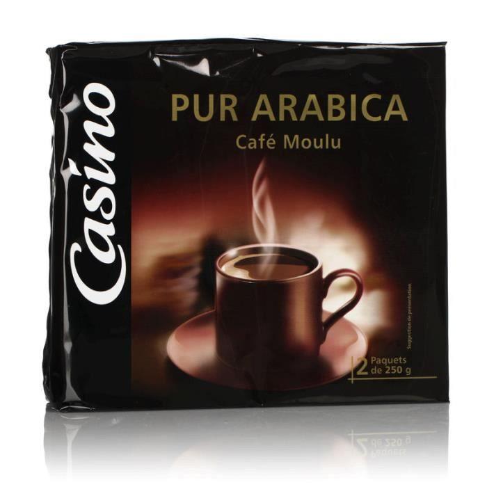 CASINO Café Moulu Pur Arabica - 2 x 250 g