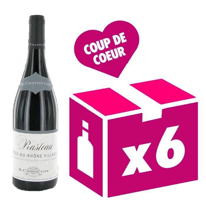 Rasteau vin rouge 6x75cl Chapoutier 2017