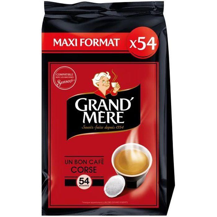 Grand-mère Corsé café en dosettes x54 -356g