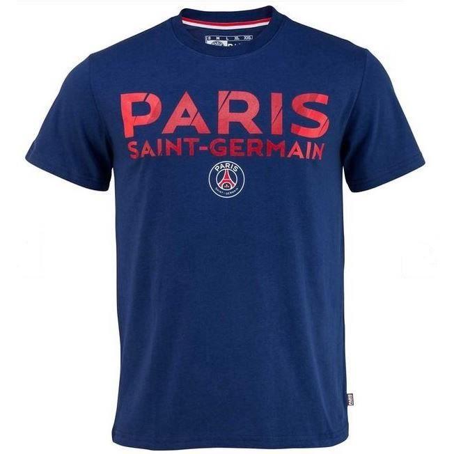 Tee Shirt Match Officiel Bleu Homme Paris Saint-Germain PSG Saison 2016/2017