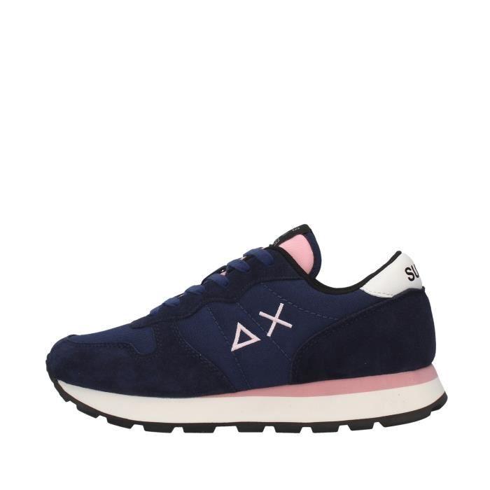 Sun68 Z40201 chaussures de tennis faible Femme BLEU MARIN