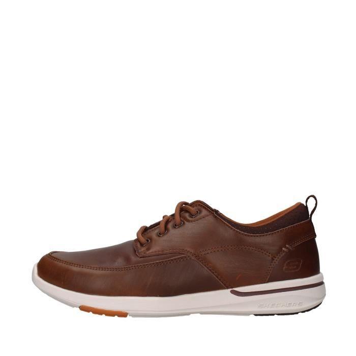 Skechers 65727 chaussures de tennis faible homme MARRON