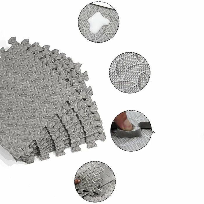 8 pcs Tapis de sport tapis de sol équipement de salle de mousse épaissir imperméable à l'eau antidérapant-30.5*30.5cm @#°