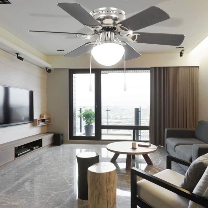 Luxueux Haute qualité Magnifique Economique Maison Jardin Ventilateur de plafond orné avec lumière 82 cm Marron foncé