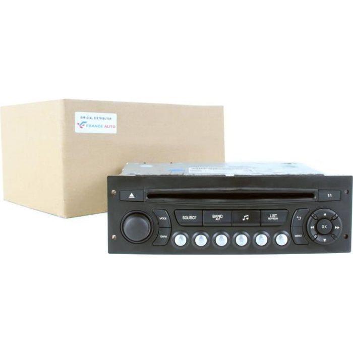 Autoradio Lecteur CD RD45 Citroen C3 II C4 C5 III DS3 Jumpy III Peugeot 207 301 3008 5008 Expert III 98053736XT 98041626XT