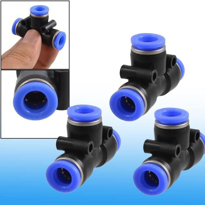 3 pcs pneumatique Air 8 mm à 8mm 3 raccords rapides à pousser des moyens
