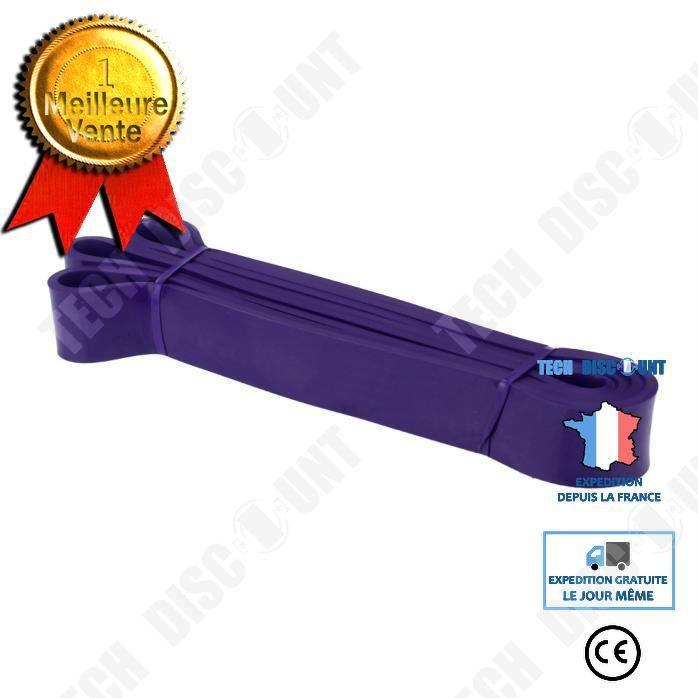 TD® Bande Élastique Cross-fit - Harnais de résistance- Bande de latex Body gym Extenseur- Entraînement fitness Multifonction Violet