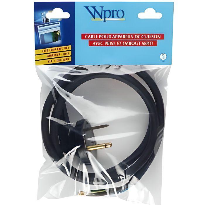 Câble WPRO Câble HO5 RRF 3G4 avec prise pour table cuisson >5750 W