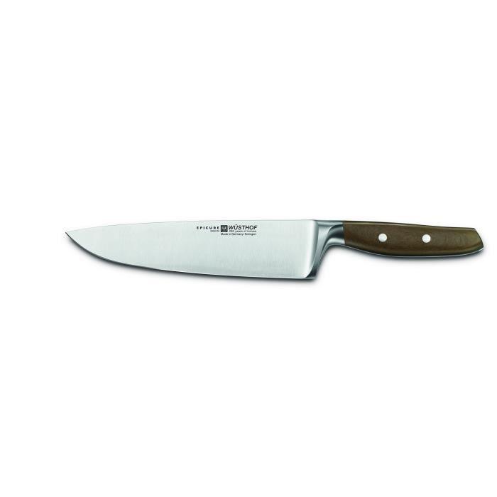Wüsthof TR3982-20 Couteau de Chef, Acier Inoxydable, Marron, 33 x 5 x 2 cm