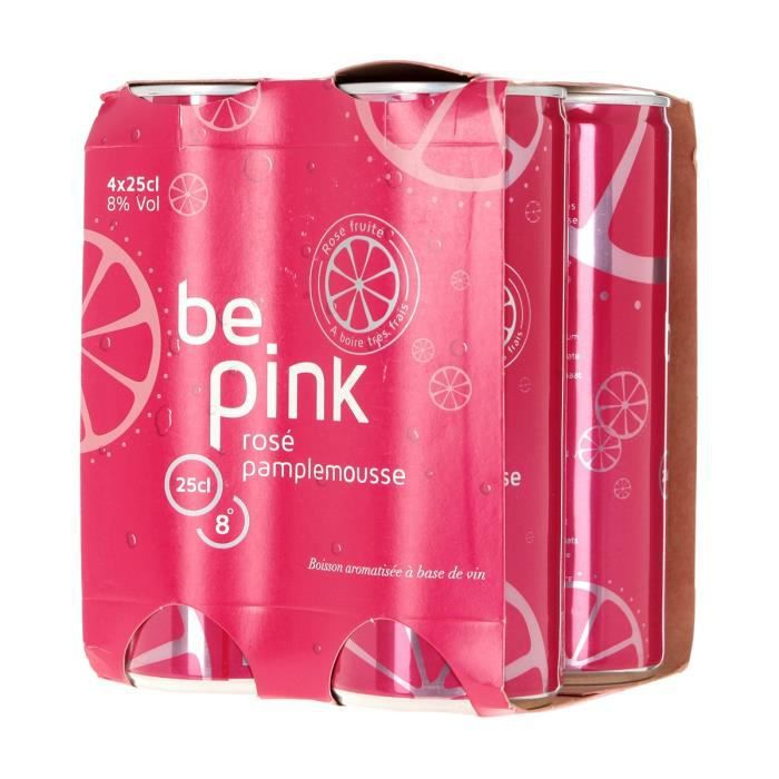 Boisson à base de Vin - Rosé Pamplemousse - cannettes 4 x 25 cl