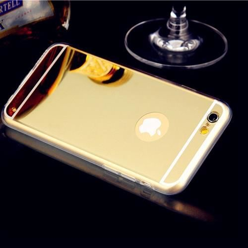 Coque iphone 6 4 7 5 5 6 silicone miroir or achat for Coque iphone 6 miroir