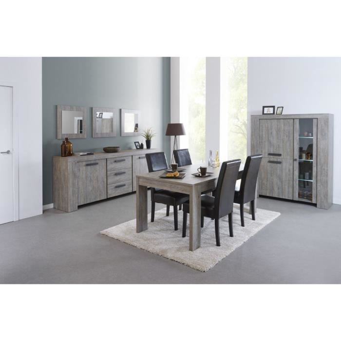 colorado ensemble s jour avec table 160cm gris achat. Black Bedroom Furniture Sets. Home Design Ideas