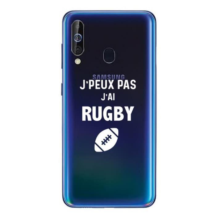 Coque Samsung A60 Jpeux pas j'ai Rugby - Blanc