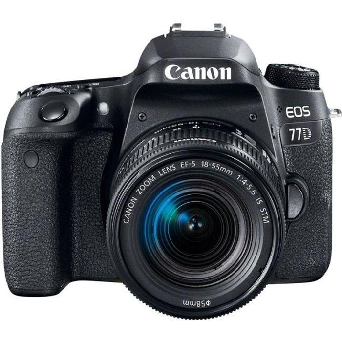 APPAREIL PHOTO RÉFLEX Canon EOS Reflex EOS 77D + 18-55 IS STM